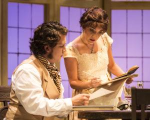 Rafael Goldstein (Septimus Hodge) and Erika Soto (Thomasina Coverly). Photo by Craig Schwartz.