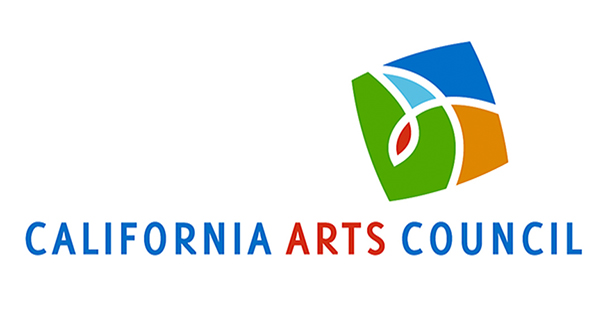 California Arts Council logo in blue, red, green and orange.