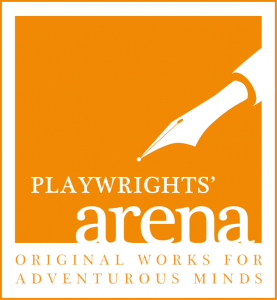 Plawrights' Arena logo. Original Works for Adventurous Minds.